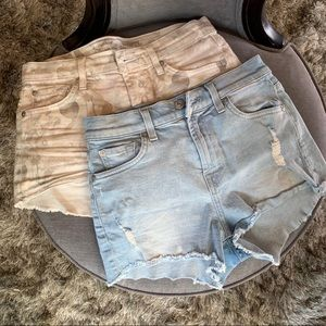 7FAM Bundle 2 Cut Off Jean Shorts